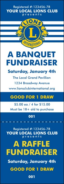 Lions Club International Stripes Event Ticket