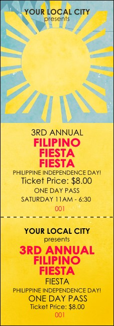 Filipino Fiesta  Event Ticket