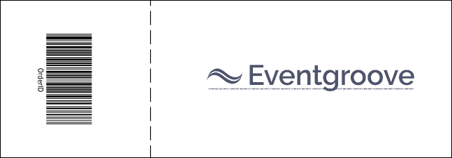 Jazz Event Ticket Product Back