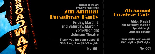 broadway event ticket
