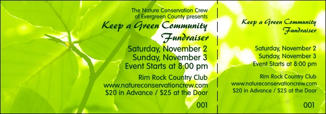 Nature Series - Green Leaves Event Ticket