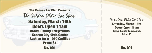 50s Classic Car Event Ticket