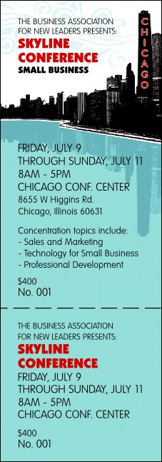 Chicago Event Ticket Product Front