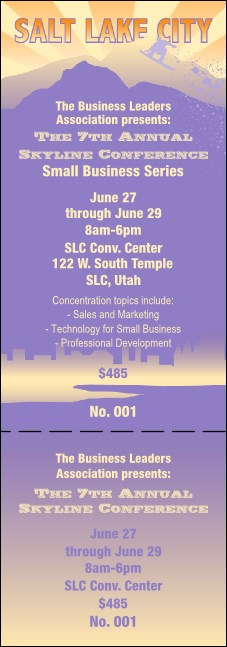 Salt Lake Event Ticket