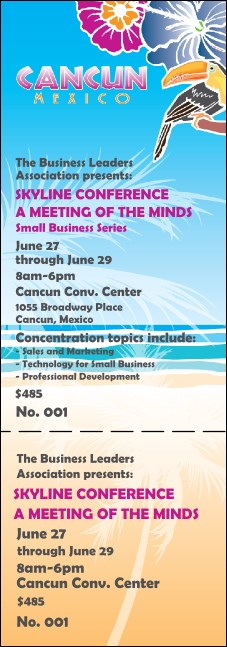 Cancun Event Ticket