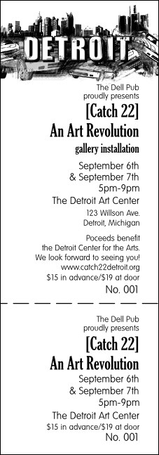 Detroit BW Event Ticket