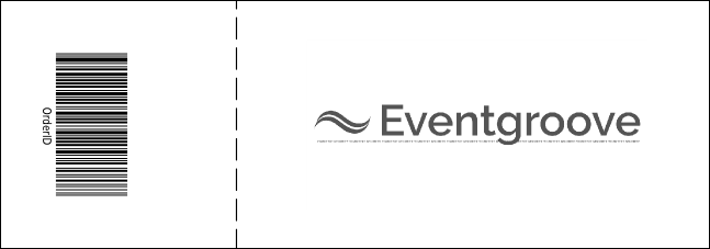 Twin Cities Event Ticket (black and white)