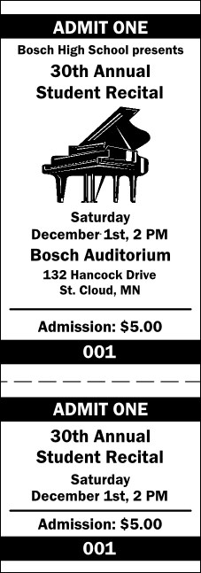 Piano General Admission Ticket 001