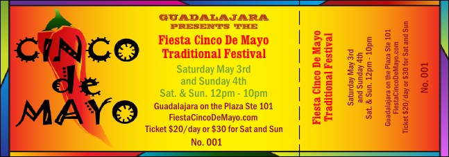 Cinco de Mayo General Admission Ticket 002 Product Front