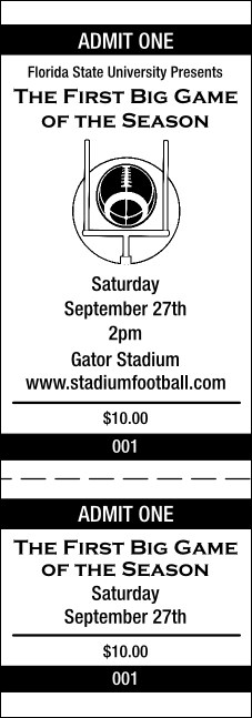 Football General Admission Ticket 001