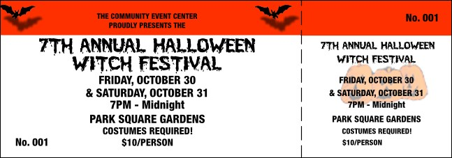Halloween General Admission Ticket 001 Product Front