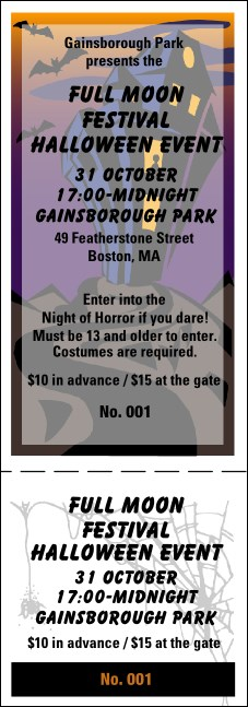 Halloween General Admission Ticket 003