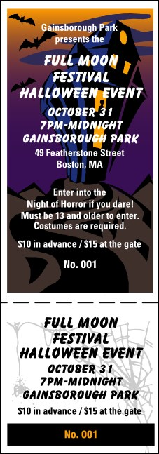 Halloween General Admission Ticket 004