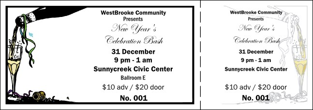 New Year's Celebration General Admission Ticket 001