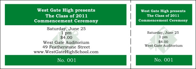 Graduation General Admission Ticket 005 Product Front