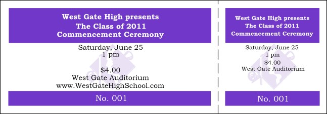 Graduation General Admission Ticket 006 Product Front