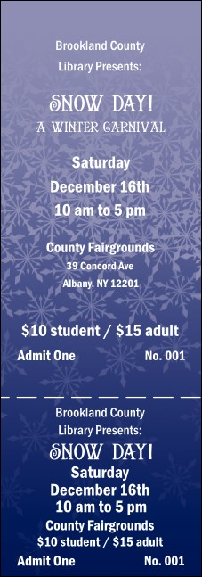 Blizzard General Admission Ticket Product Front