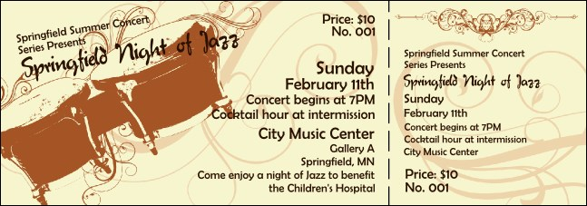 Concert Series Ticket 002