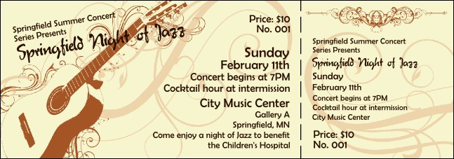 Concert Series Ticket 005