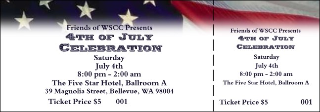American Flag Ticket 004