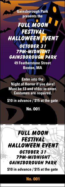 Halloween General Admission Ticket 005