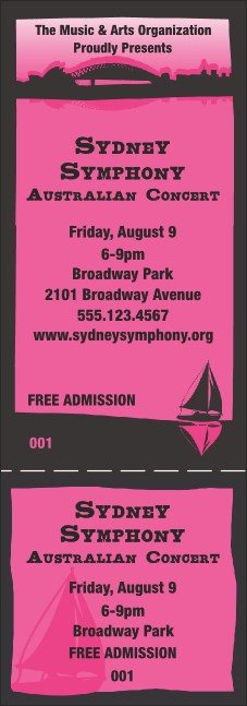 Sydney General Admission Ticket (Pink)
