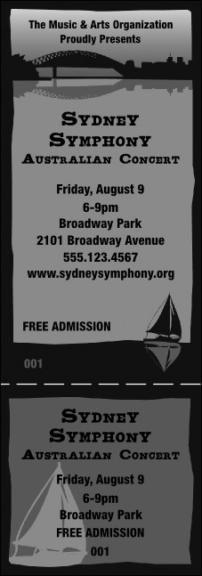 Sydney General Admission Ticket (Black and White)