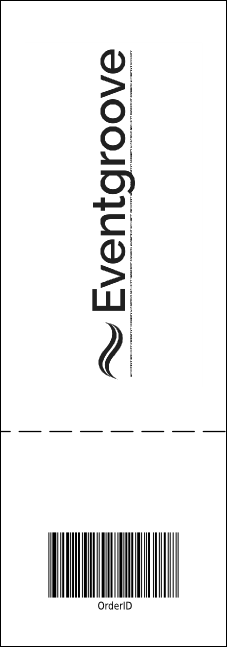 Jazz Concert Event Ticket (Black and White) Product Back