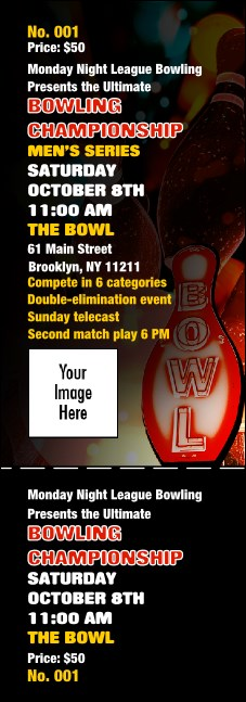 Bowling Event Ticket