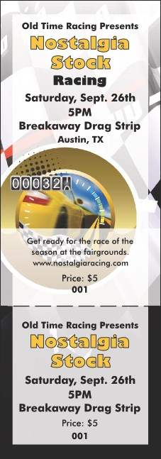 Stock Car Racing General Admission Ticket