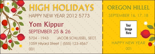 High Holidays Yom Kippur Event Ticket 1 Product Front