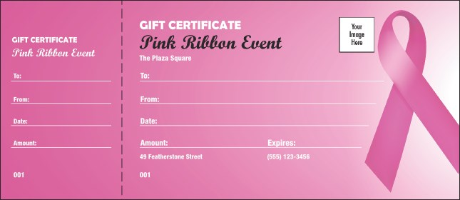 Pink Ribbon Gift Certificate