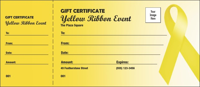 Yellow Ribbon Gift Certificate