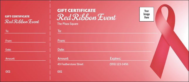 Red Ribbon Gift Certificate