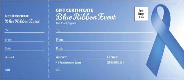 Blue Ribbon Gift Certificate