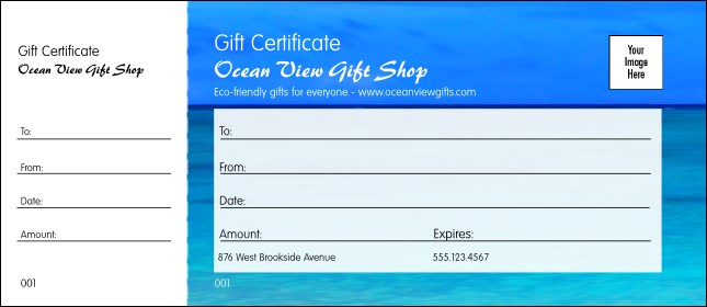 Nature Series Blue Ocean Gift Certificate