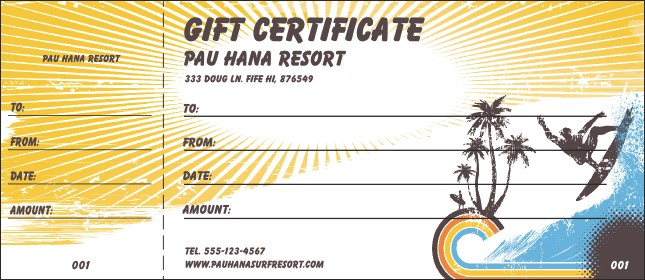 Surf Gift Certificate