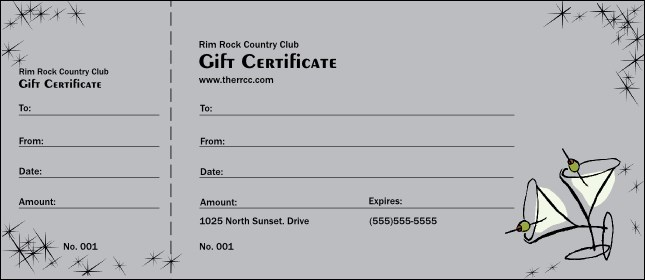 Fishing Gift Certificate Template Design Templates