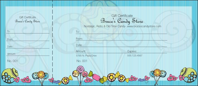 Candy Gift Certificate