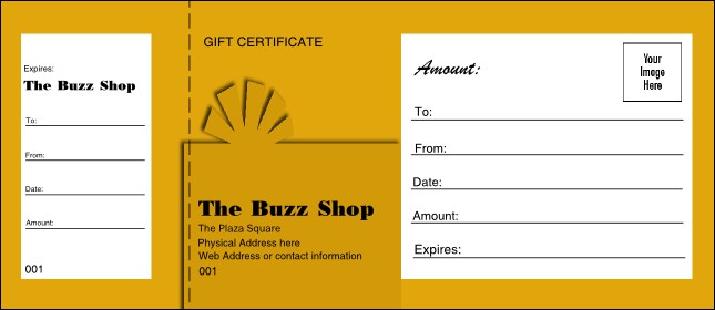 Present Gift Certificate 003