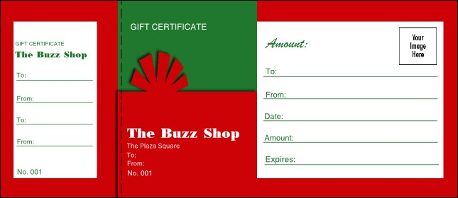 Present Gift Certificate 004 Product Front