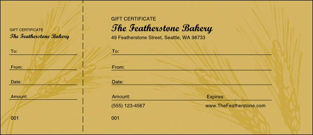 Wheat Gift Certificate