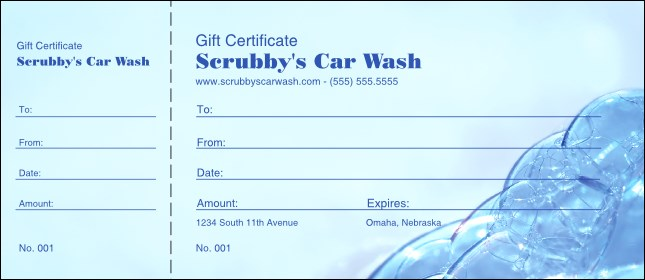 Bubble Gift Certificate 001