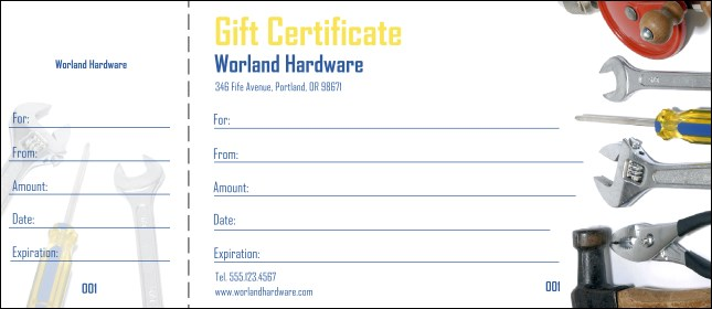Hardware Gift Certificate