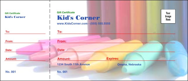 Crayons Logo Gift Certificate