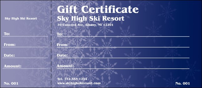 Blizzard Gift Certificate