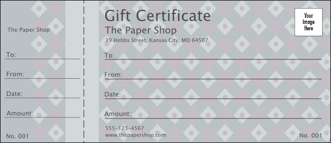 Dark Silver Diamonds Logo Gift Certificate