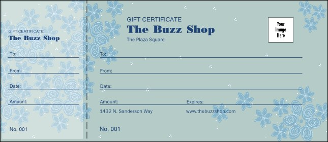 Country Flowers Gift Certificate 002