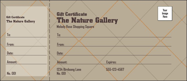 Men's Clothing Store Gift Certificate 002