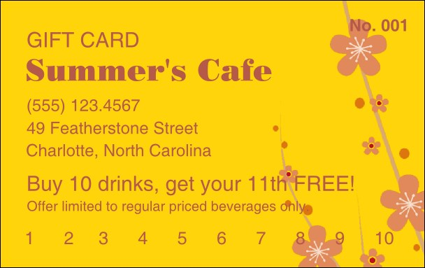 Fruit Flowers Gift Card